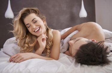 lovers in bed, talking dirty talk