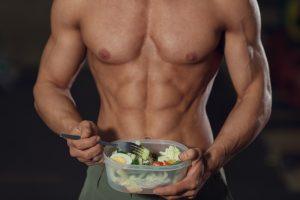 fit guy eating healthy