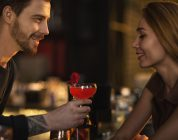 man getting woman's attention in bar is more confident with Progentra