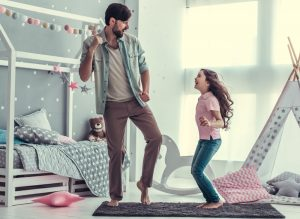 dad who takes Progentra dancing with daughter