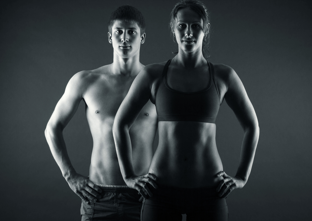 fit couple showing off their bodies
