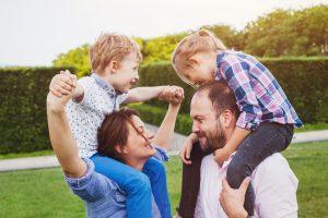 happy family bonding