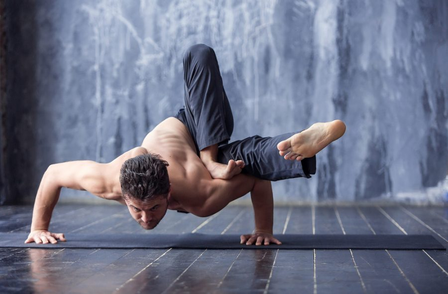 complicated yoga pose