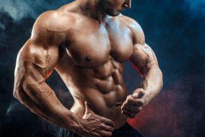 buff muscular shirtless man