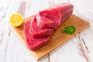 fresh tuna slab
