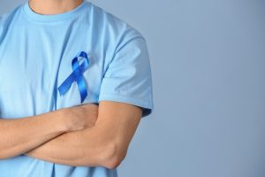 blue ribbon for cancer awareness