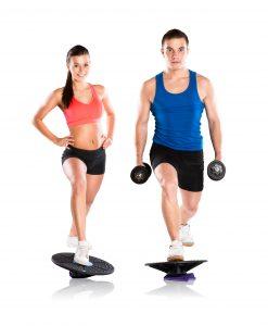 Exercising using a Balance Board